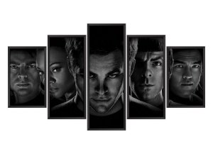 Quadro Mosaico Star Trek em 5 partes