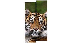 Painel Mosaico Decorativo em 2 partes - Tigre