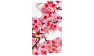 Painel Mosaico Decorativo em 2 partes - Flores 2