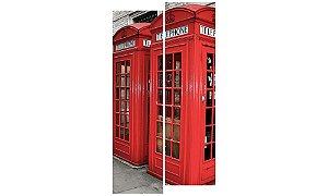 Painel Mosaico Decorativo em 2 partes - Cabine Telefônica Londres