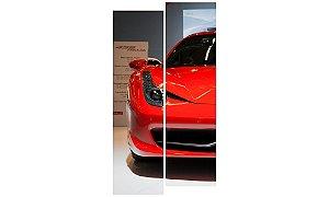 Painel Mosaico Decorativo em 2 partes - Ferrari Frente