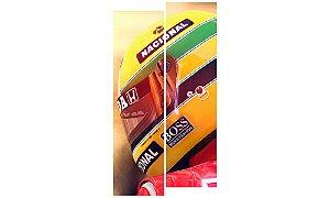 Painel Mosaico Decorativo em 2 partes - Airton Senna 2