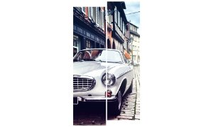 Painel Mosaico Decorativo em 2 partes - Carro Vintage