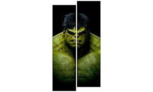 Painel Mosaico Decorativo em 2 partes - Hulk