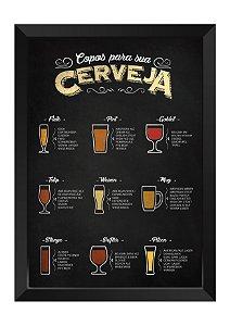Quadro - Copos para sua Cerveja