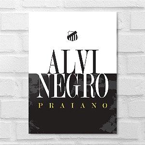 Placa Decorativa - Alvi Negro Praiano