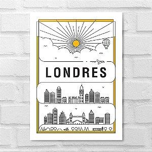 Placa Decorativa - Londres em Traços