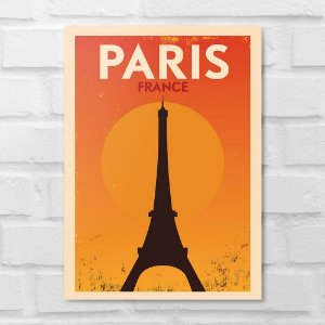 Placa Decorativa - Paris Minimalista