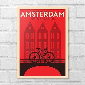 Placa Decorativa - Amsterdam Minimalista