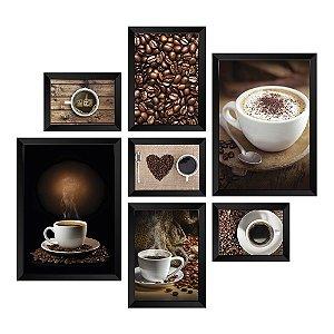 Kit de Quadros Decorativos 7 peças Café