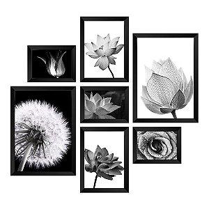 Kit de Quadros Decorativos 7 peças Floral
