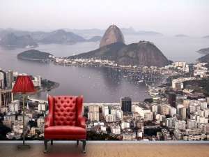 Painel Parede Fotográfico Baía de Botafogo no Rio de Janeiro