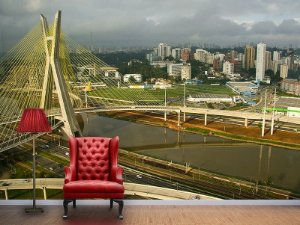 Papel de Parede Fotográfico - Ponte Estaiada São Paulo - PA019