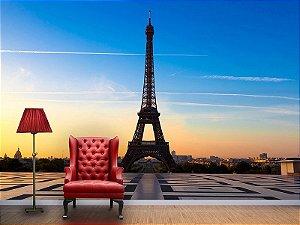Painel Parede Fotográfico Torre Eiffel