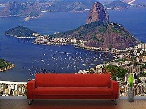 Painel Parede Fotográfico Vista Aérea do Rio de Janeiro