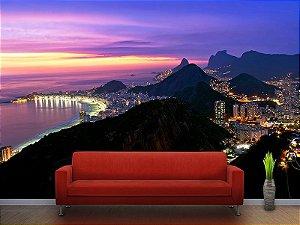 Painel Parede Fotográfico Pôr do Sol Rio de Janeiro