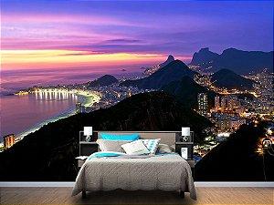 Papel de Parede Fotográfico - Pôr do sol Rio de Janeiro - PA035