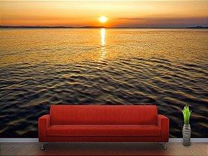 Painel Parede Fotográfico Pôr do Sol no Oceano