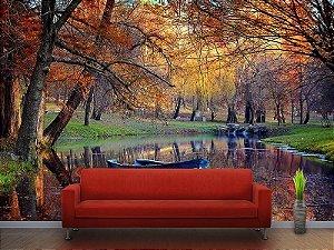 Painel Parede Fotográfico Paisagem Colorida do Outono