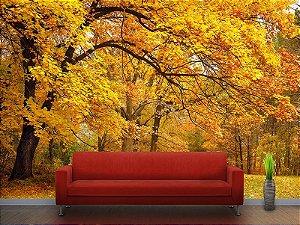 Painel Parede Fotográfico Folhas de Outono