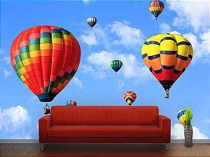 Painel Parede Fotográfico Balões Coloridos