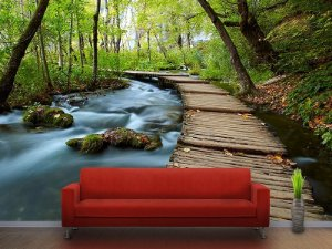 Painel Parede Fotográfico Ponte para o Bosque