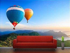 Papel de Parede Fotográfico - Balões nas montanhas - PA059