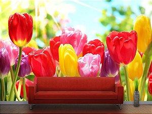 Painel Parede Fotográfico Flores