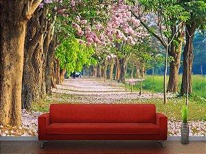 Painel Parede Fotográfico Campo de Flores