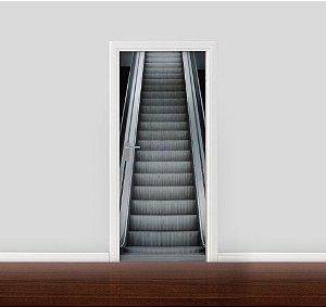 Adesivo para Porta - Escada rolante 02