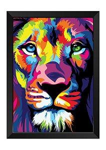 Quadro - Leão Colors