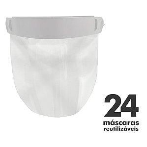 Máscara Facial Protetora - 24 unidades - Reutilizável