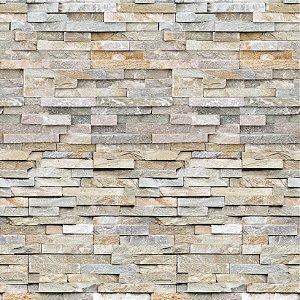 Papel de Parede Adesivo Muro de Pedras