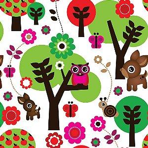 Papel de Parede Adesivo Infantil Floresta