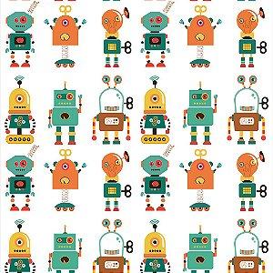 Papel de Parede Adesivo Infantil Robotoys