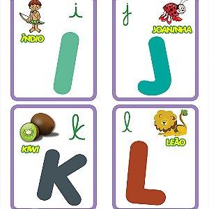 Papel de Parede Adesivo Infantil Alfabeto Objeto