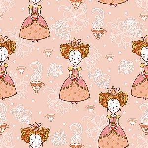 Papel de Parede Adesivo Infantil Chá Rosa