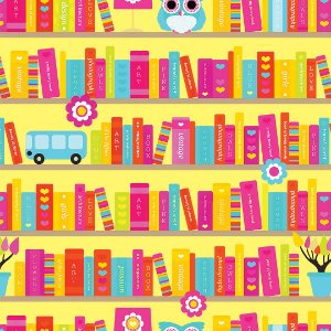 Papel de Parede Adesivo Infantil Books