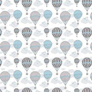 Papel de Parede Adesivo Infantil Balão Blue