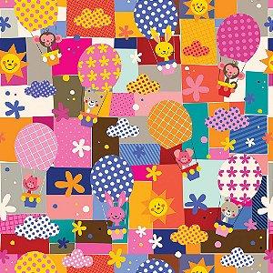 Papel de Parede Adesivo Infantil Mosaico
