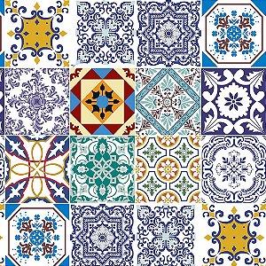 Papel de Parede Adesivo Azulejo Lisboa