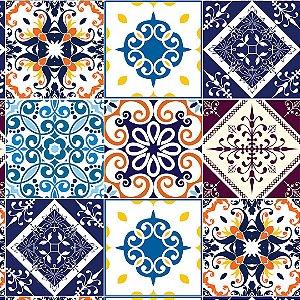 Papel de Parede Adesivo Azulejo Beja