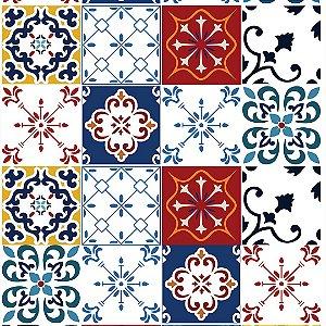 Papel de Parede Adesivo Azulejo Madeira
