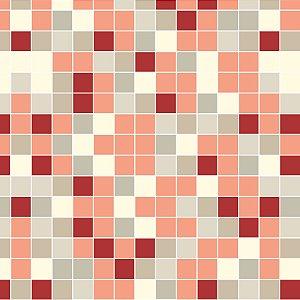 Papel de Parede Adesivo Pastilha Vermelha