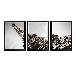 Kit de 3 Quadros Torre Eiffel Paris