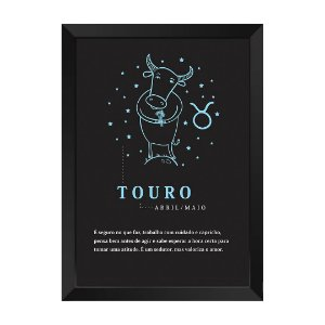 Quadro Decorativo Signo Touro