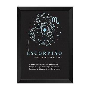 Quadro Decorativo Signo Escorpião