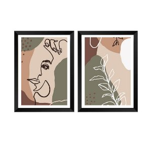 Kit de 2 Quadros Decorativos Florentine