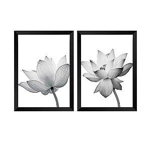 Kit de 2 Quadros Decorativos Flores Vitale