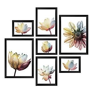 Kit de 7 Quadros Flores Elegance